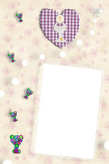 First Holy Communion photo frame girl