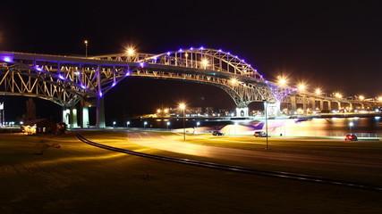 Blue Water Bridge Night Timelapse