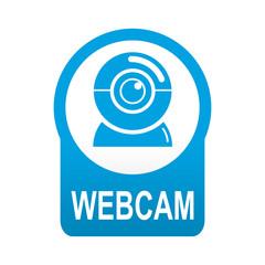 Etiqueta app abajo azul redonda WEBCAM
