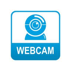 Etiqueta app abajo azul WEBCAM