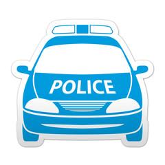 Pegatina simbolo coche de policia