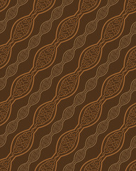 Brown Color Modern Simple Diagonal Line Pattern. Original Patter