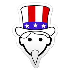 Pegatina simbolo Uncle Sam
