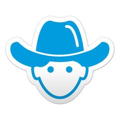 Pegatina simbolo vaquero
