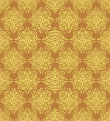 Yellow Colors Square grid Pattern design.