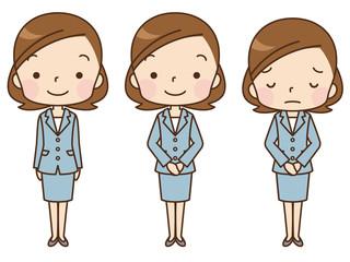 スーツを着た女性 主婦 セット