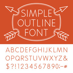 Alphabet 1 - Simple Vector Font in modern style