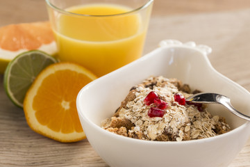 Healthy and lights breakfast