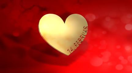 Herz Valentin Gold