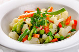 Mixed vegetables in  white  bowl