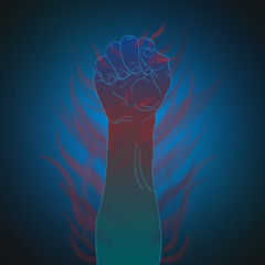 Human arm vector background