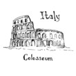 Great Colosseum, Rome, Italy. Sketch. - 77449989