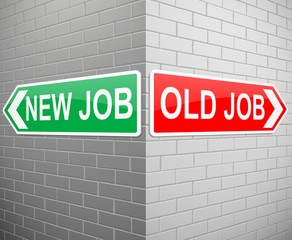 New job old job.