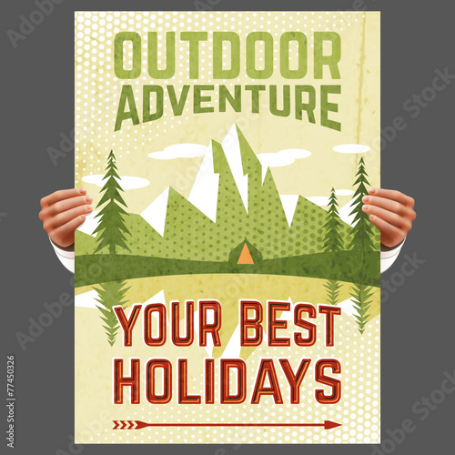 Outdoor adventure tourism poster