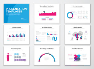 Infographic presentation templates and business vector brochures