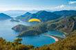 Leinwandbild Motiv Oludeniz lagoon in sea landscape view of beach