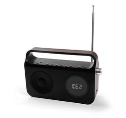 portable radio receiver isolated on white