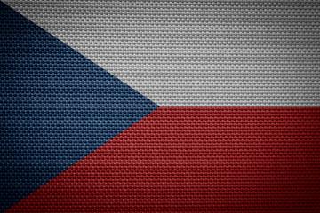 woven flag of the Czech Republic