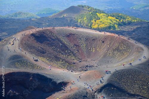 Etna Vulcano cratere - 77452322