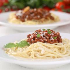 Spaghetti Nudeln Pasta mit Bolognese Sauce
