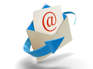 Letter E-mail (clipping path included)