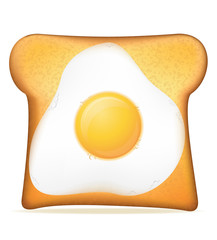 toast with egg vector illustration