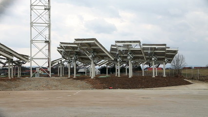 Shot of a solar power station
