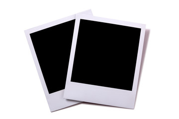 Two instant camera prints