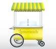 Lemonade stand cart vector illustration isolated - 77454950
