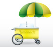 Lemonade stand cart vector illustration isolated - 77454969