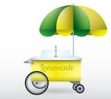 Lemonade stand cart vector illustration isolated