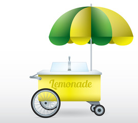 Lemonade stand cart vector illustration isolated
