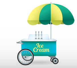 Ice Cream stand cart vector illustration isolated