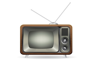 Old retro TV illustration vector isolated