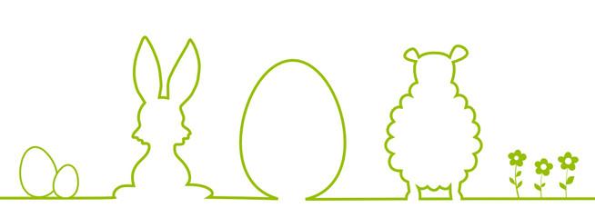 Ostern Silhouette Hase Ei Schaf