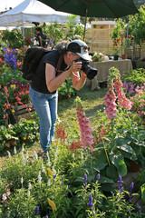 Fotografa in giardino