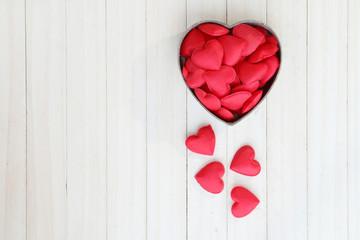 Red heart shape in box.