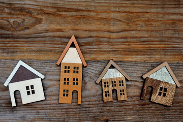 house on wooden background