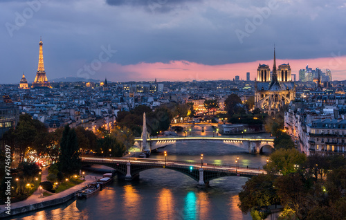 Foto op Plexiglas Parijs Paris at sunset