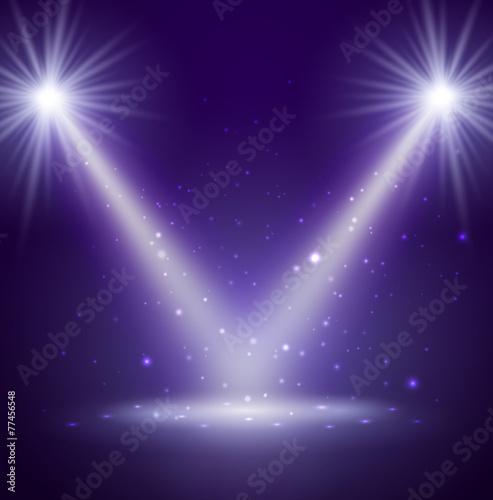 Plexiglas Licht, schaduw Stage. Vector illustration.