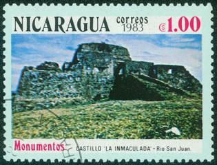 stamp shows the castle La inmaculada in Rio San Juan