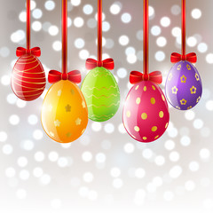 Xmas balls on bokeh background