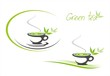 green tea, tea leaves , business logo design