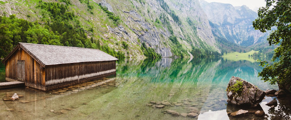 Panoramic view of Konigssee National Park, Germany