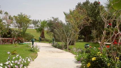 Hotel building park, Sharm el Sheikh, Egypt