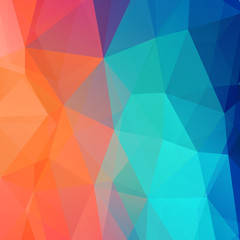 Abstract retro low poly background