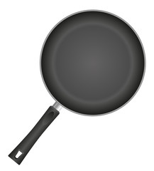 frying pan vector illustration