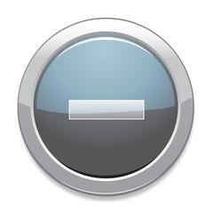 Minus Sign Icon / Light Gray Button