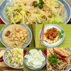 collage plat d'asie