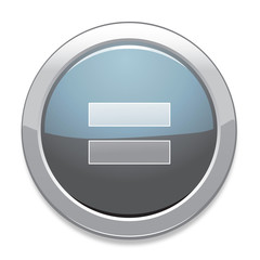 Equal Sign Icon / Light Gray Button